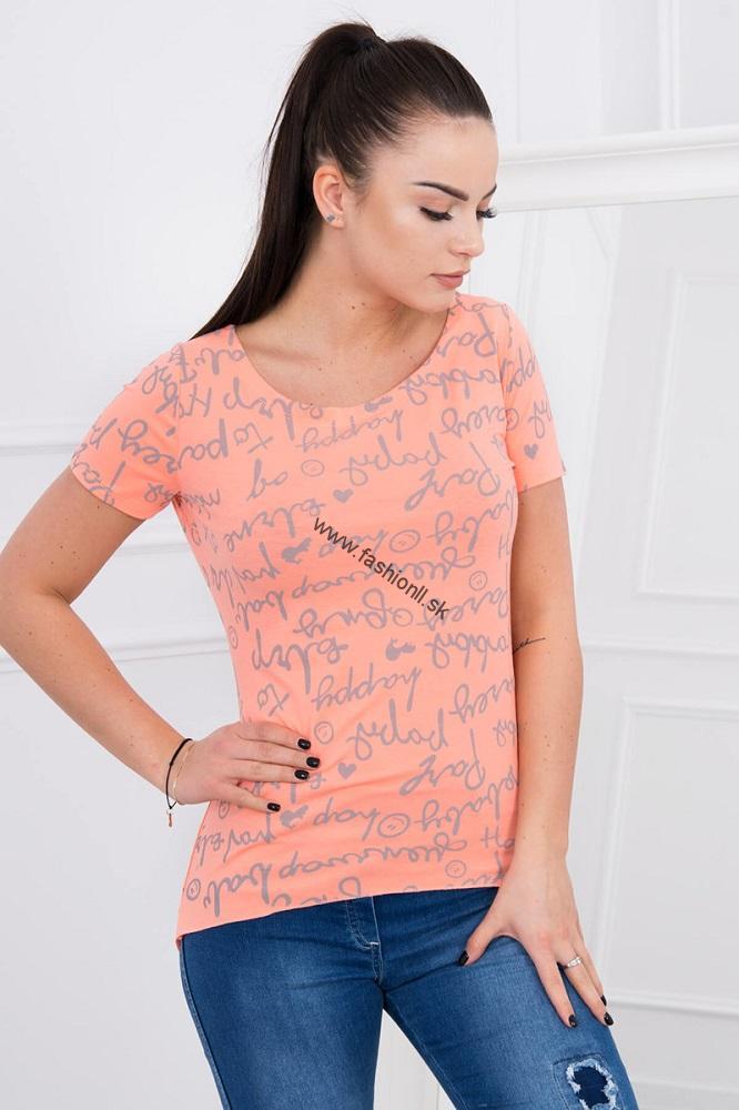 6e252023a3c8 Dámske tričko s krátkym rukávom - lososová