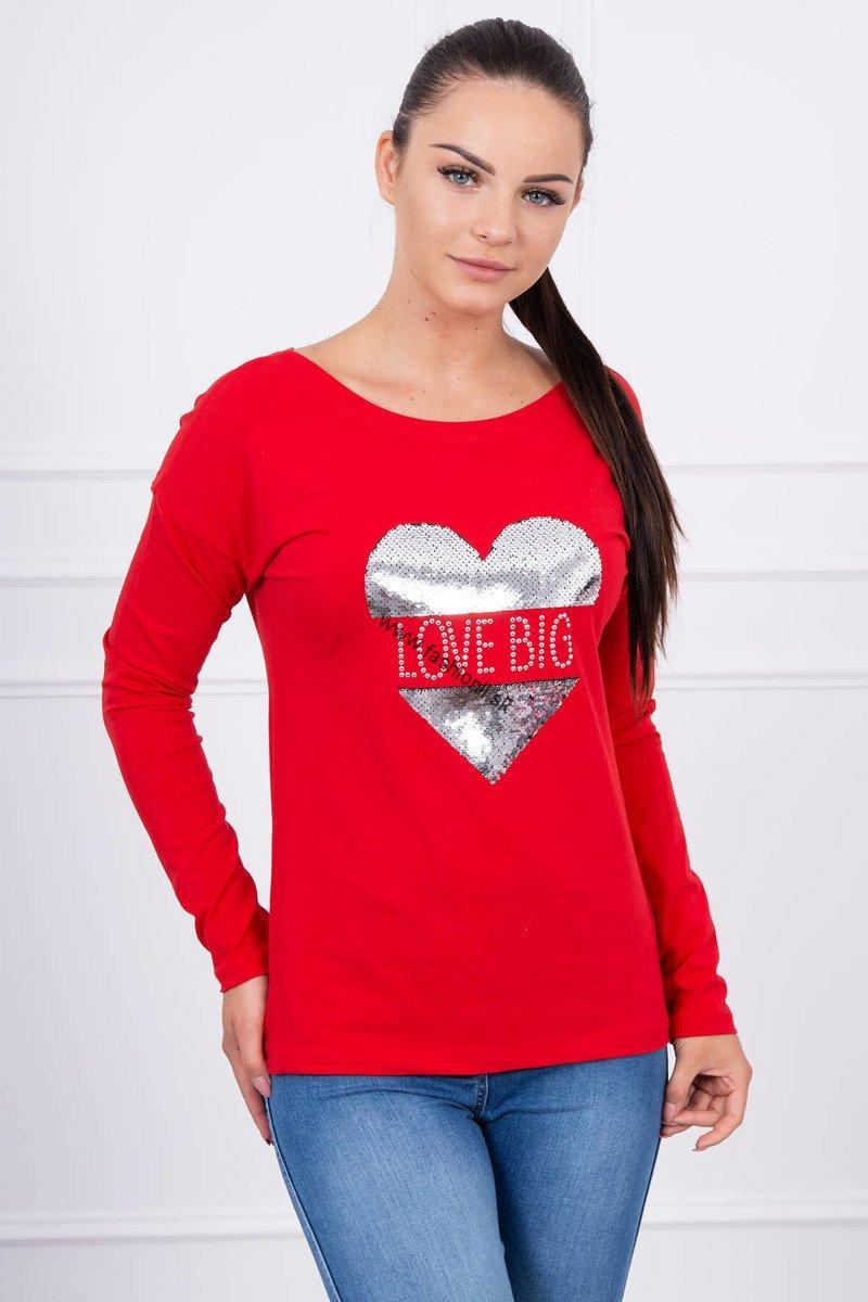 c4fd481aa95c Dámske tričko Big Love - červená