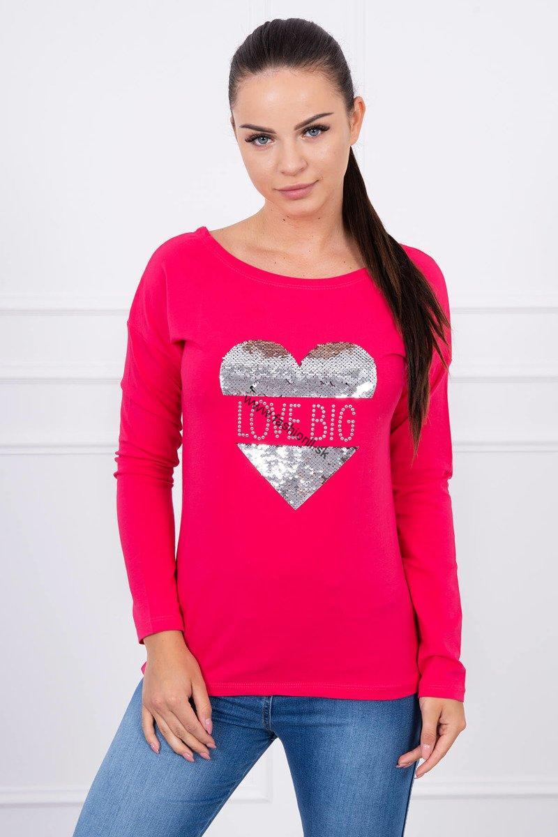 5d564946015c Dámske tričko Big Love - ružová
