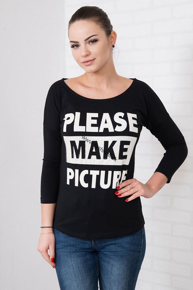 3232d1187e2b Dámske tričko s nápisom - čierna
