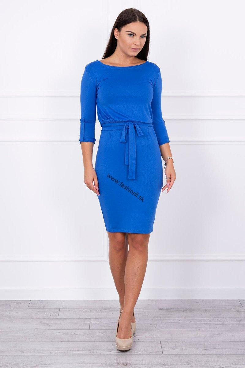 bafc2d9fe Elegantné šaty s 3/4 rukávom - kráľovská modrá