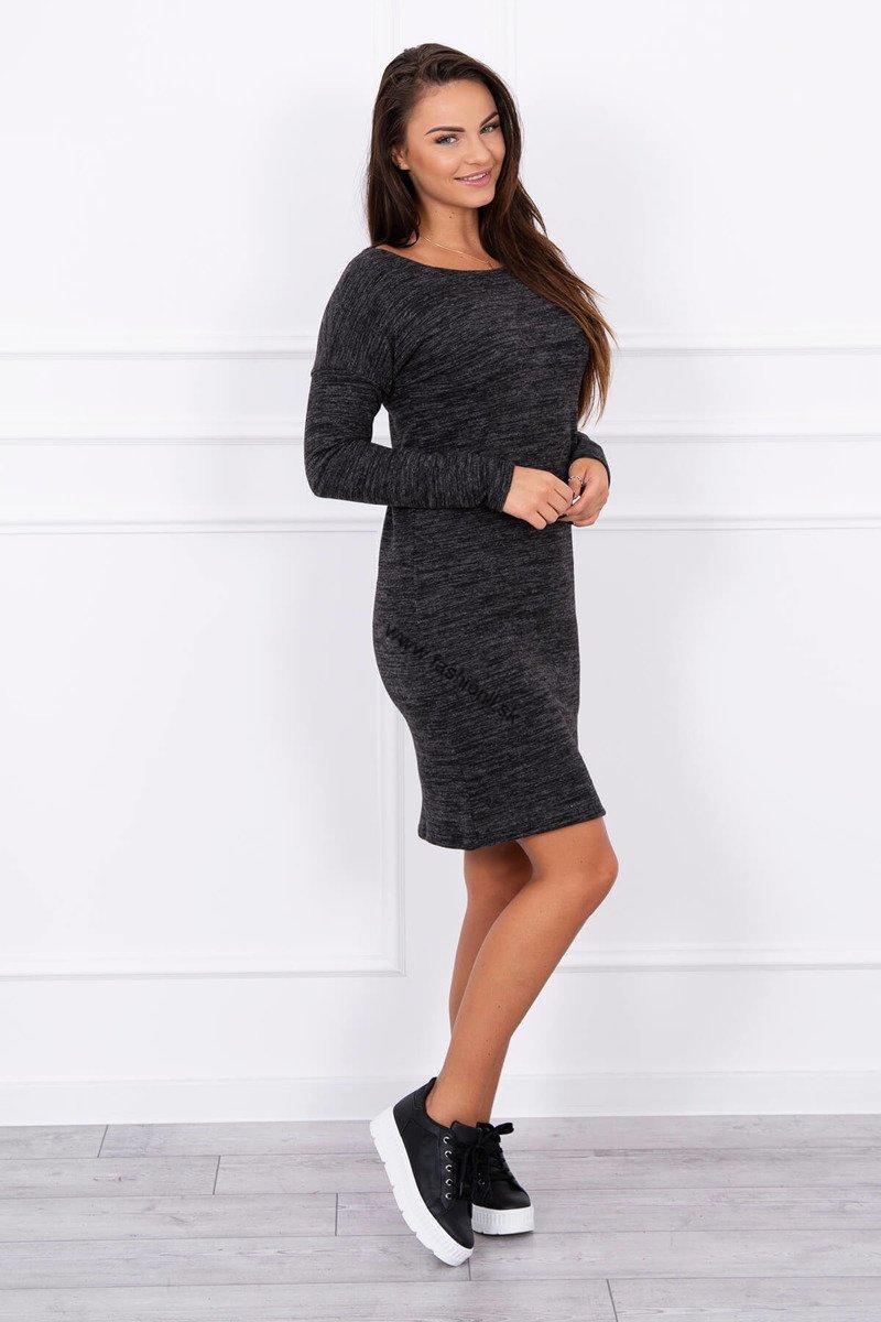 Dámske svetrové šaty - čierna 21ee14cfe93