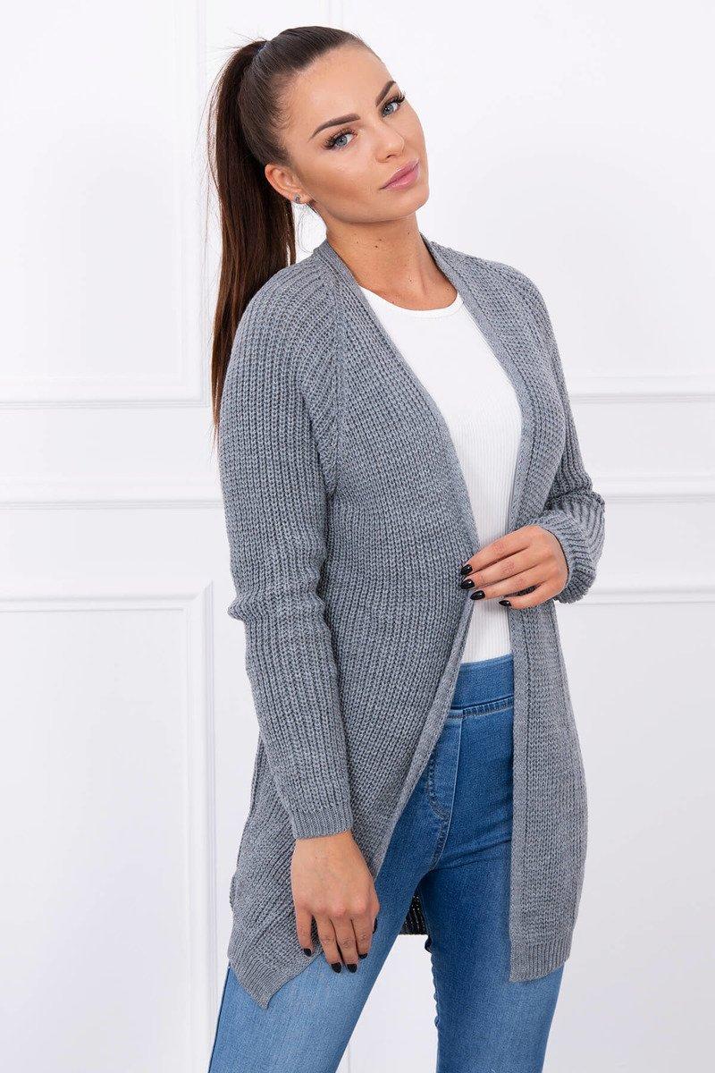 b7f1c35d87c7 Rebrovaný pletený sveter - sivý