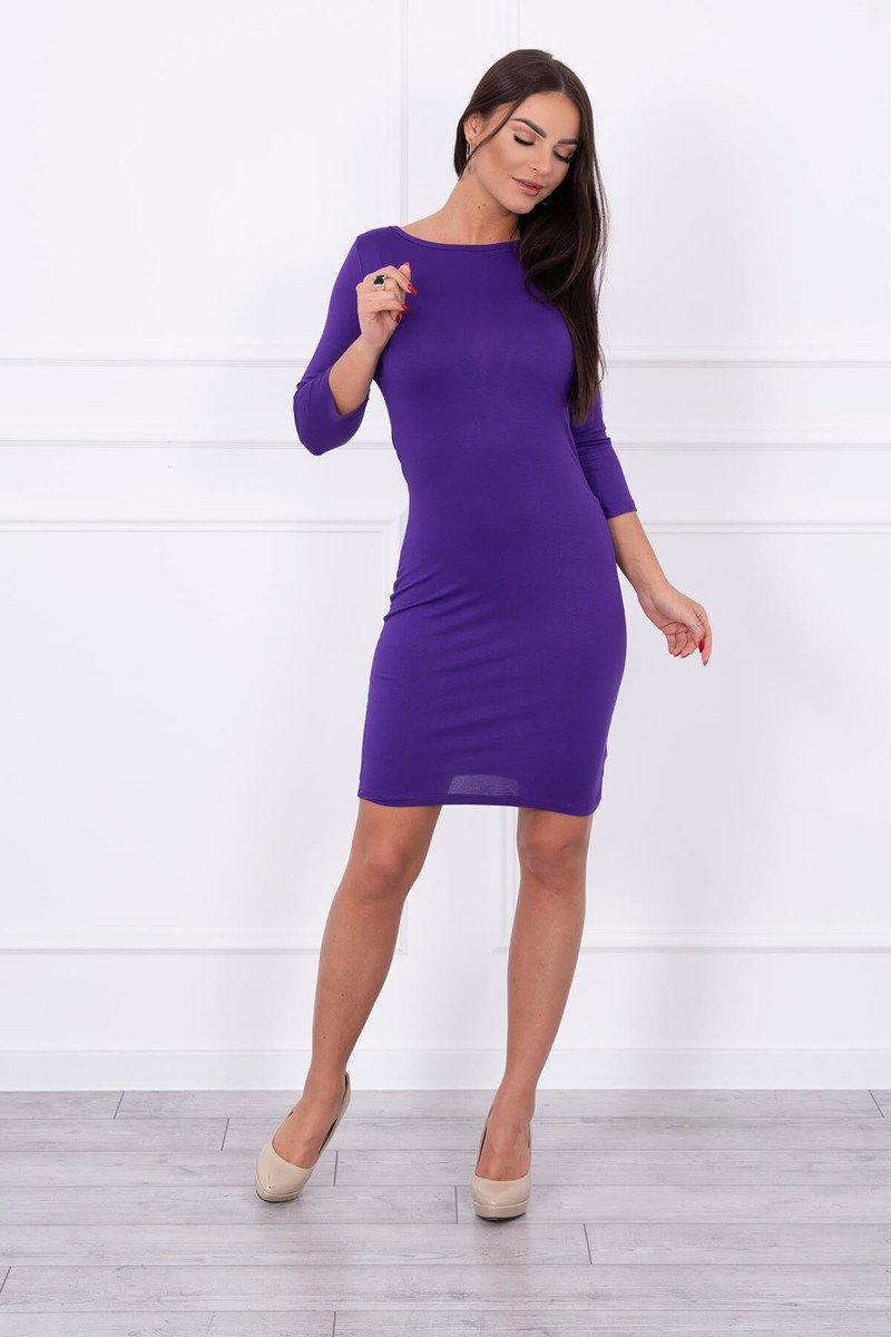 a6f83207bc81 Elegantné šaty s nariasením vzadu - fialové