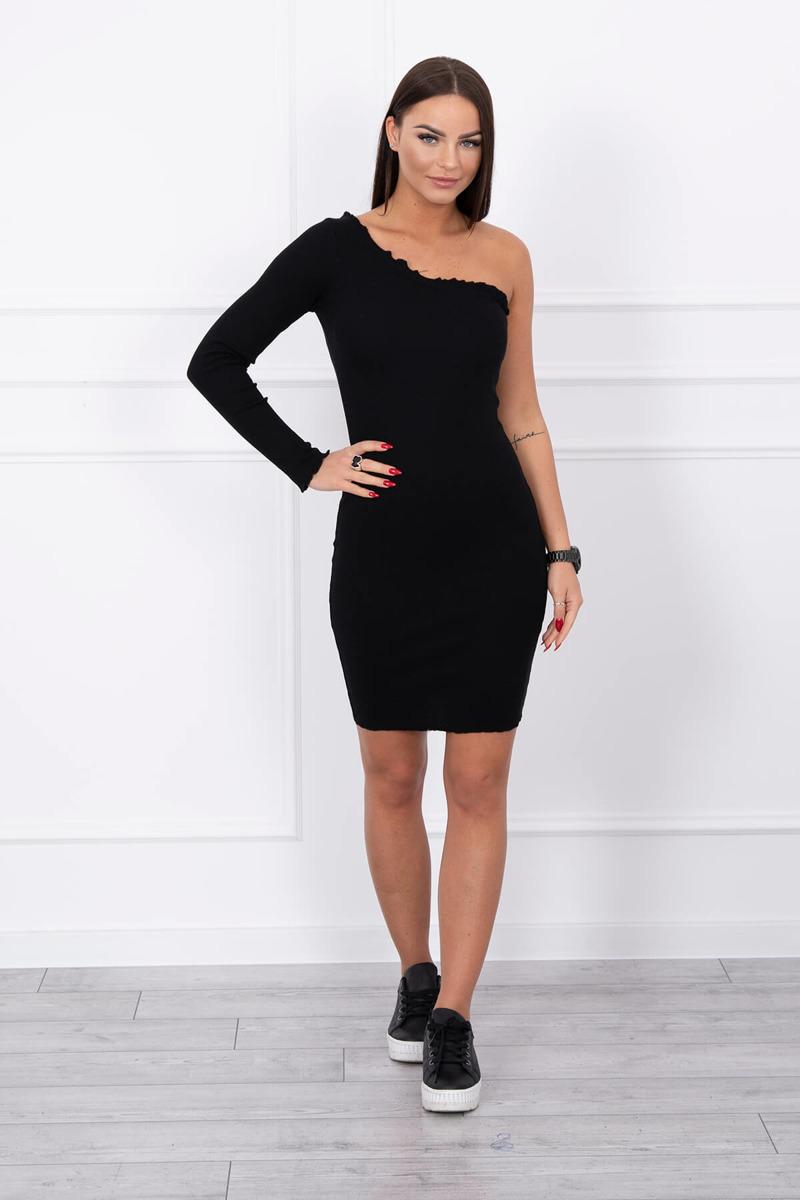 adc1d4bfe666 Dámske šaty na jedno rameno - čierna