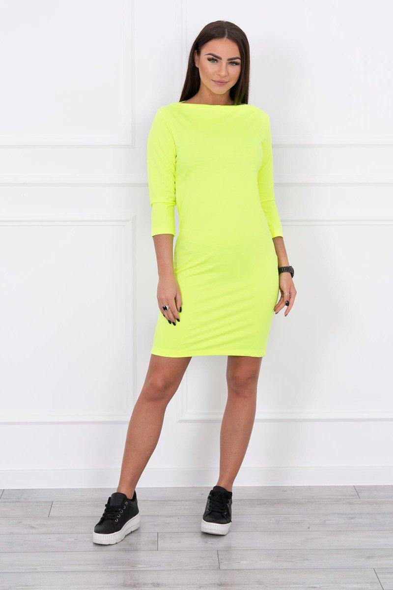 9796b9954 Dámske šaty Classical - neónovo žltá