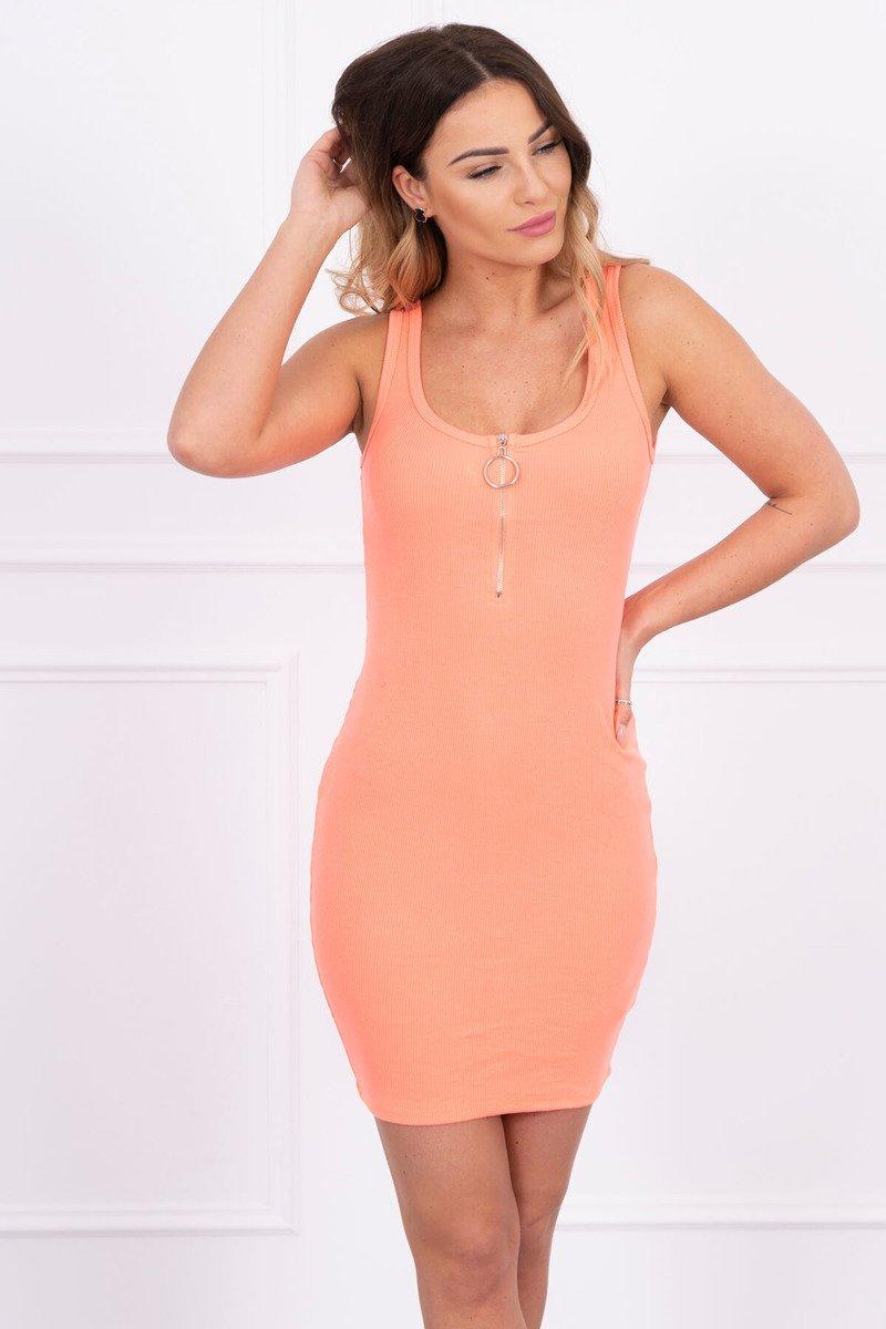 a6c04226d5b5 Letné šaty so zipsom - marhuľová