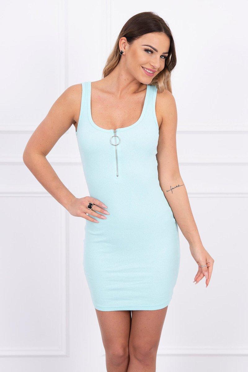 cccb85781a40 Letné šaty so zipsom - mäta