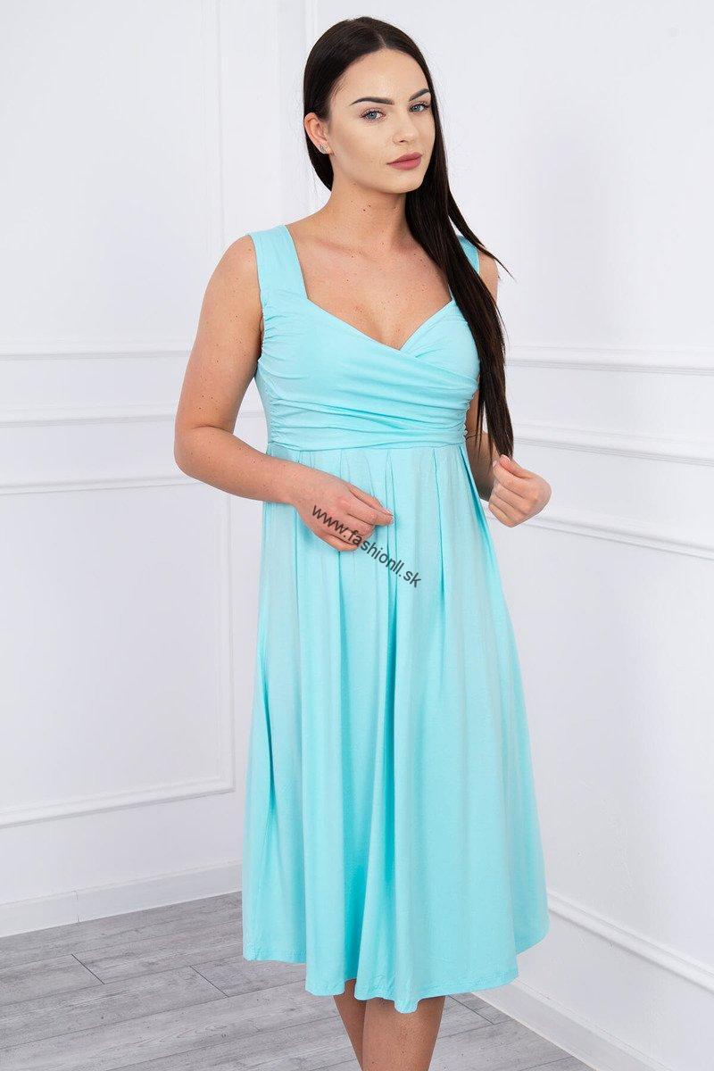9c0fbfd00997 Mätové šaty so širokými ramienkami
