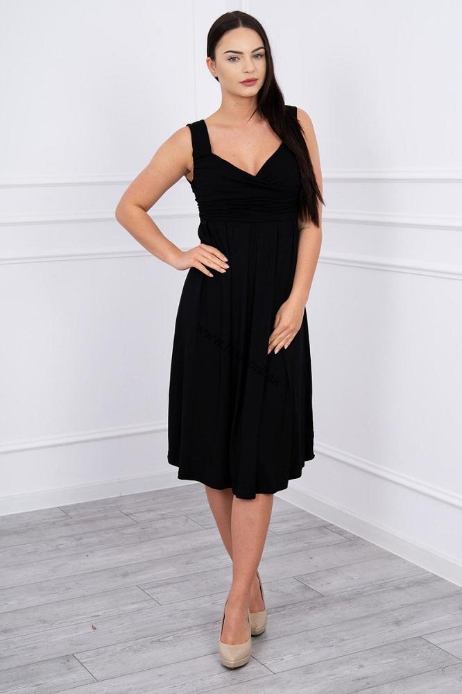 4b37778ff37c Šaty so širokými ramienkami - čierna