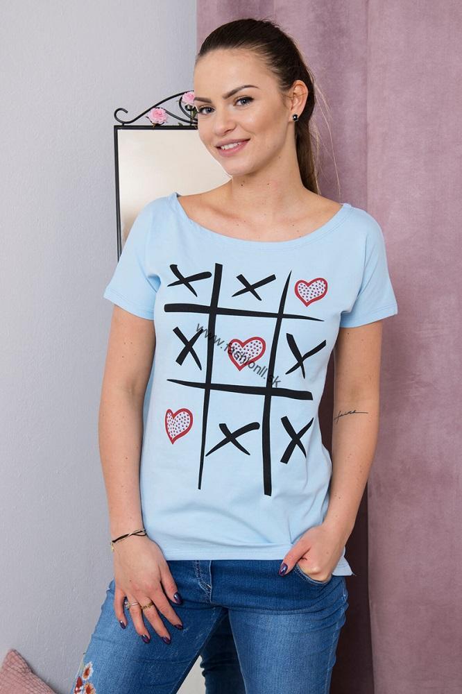 6c228384b040 Tričko s potlačou - modrá