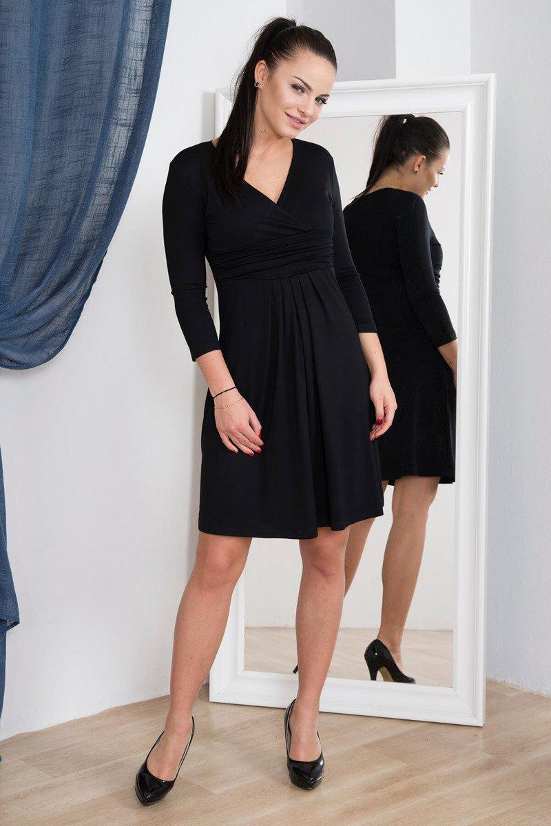 e16d5d70b36a Elegantné šaty s výstrihom - čierna