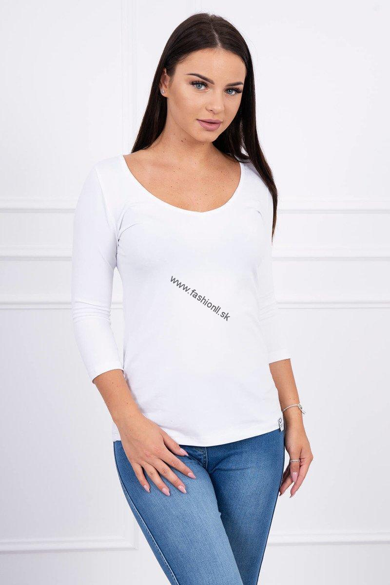 309745bb133f Dlhé tričko s 3 4 rukávom - biela