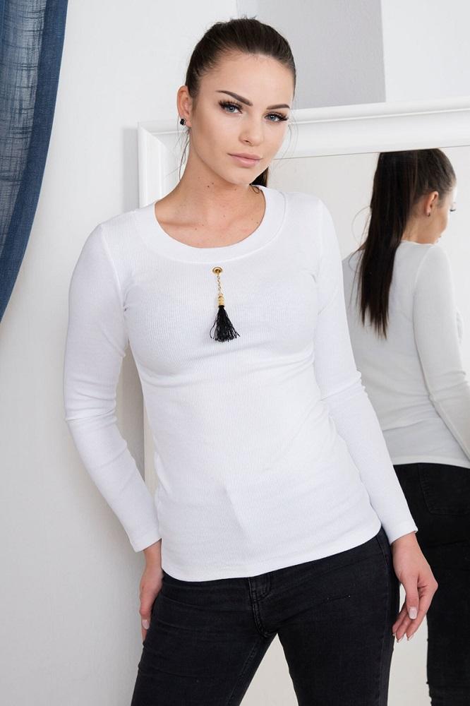 5752be76dc3b Dámske tričko s dlhým rukávom - biela