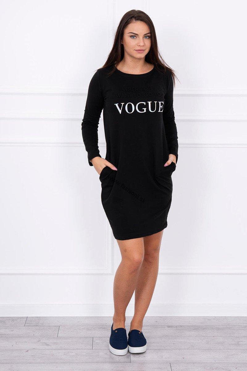 a69e9efaf0ad Čierne športové Vogue šaty