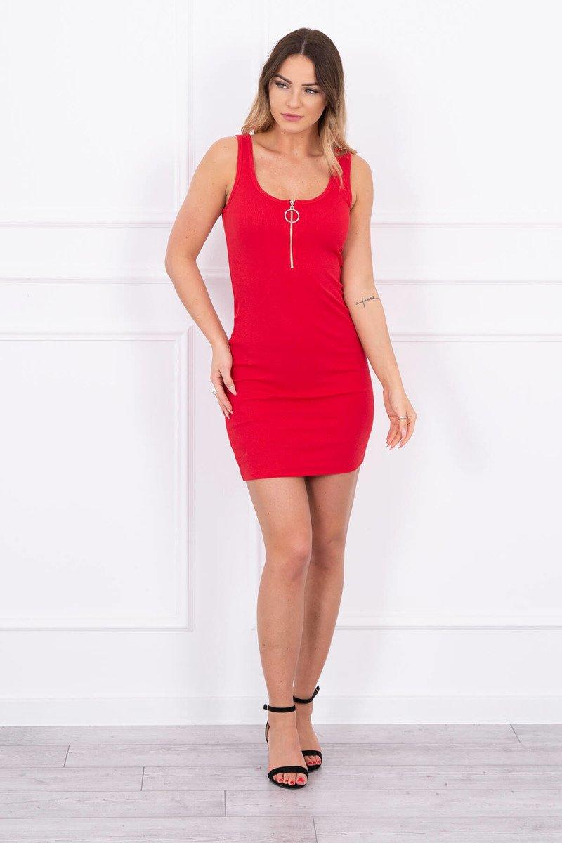 eded50bf8e0f Červené letné šaty so zipsom