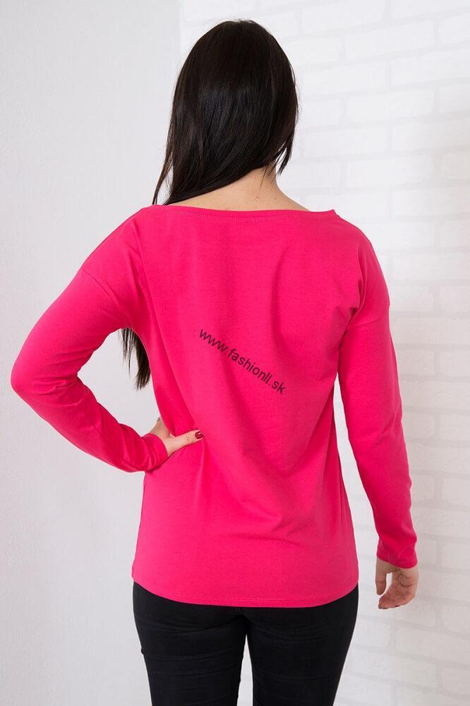 6e4af7d4fd8e Ružové tričko s dlhým rukávom Be beautiful