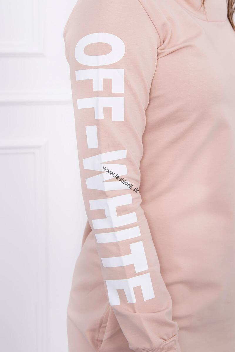 Pudrovo béžové športové šaty Off White 52aad08abc7