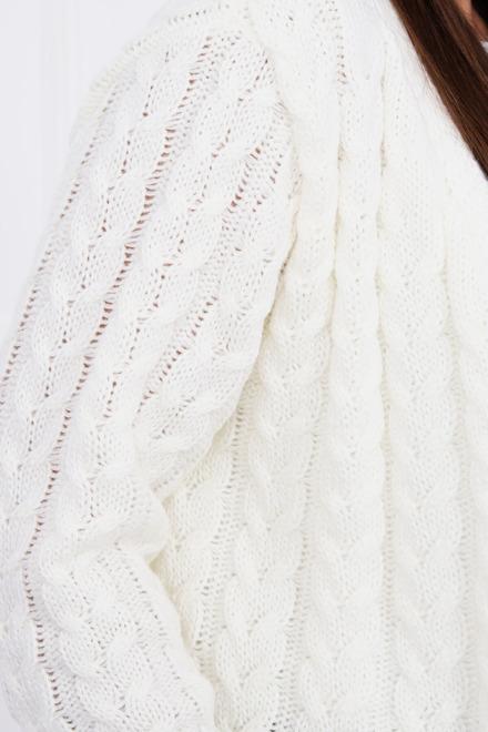 1a74be029b9f Smotanový jednofarebný pletený kardigan