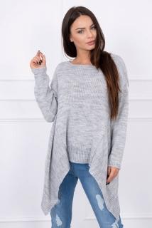 828bb44aaa06 Asymetrický pletený sveter - sivá empty