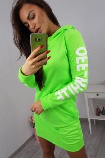 522a970df555 Športové šaty Off White - neónová zelená empty