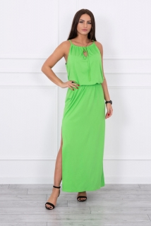 d5d42d09fa15 Dlhé letné šaty na ramienka - zelená empty